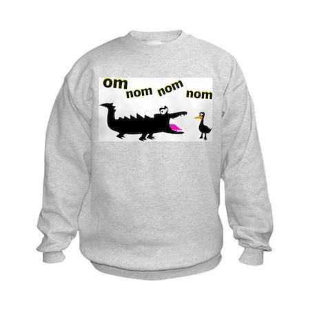 OM NOM NOM NOM Kids Sweatshirt