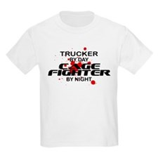 Trucker Cage Fighter by Night T-Shirt