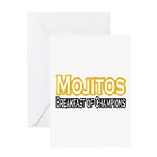 """Mojitos. Breakfast of..."" Greeting Card"