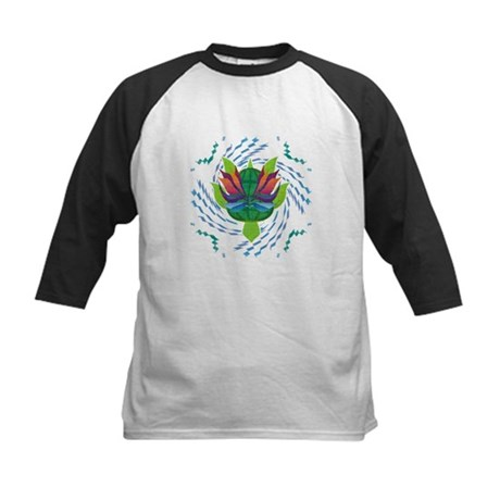 Flying Turtle Kids Baseball Jersey