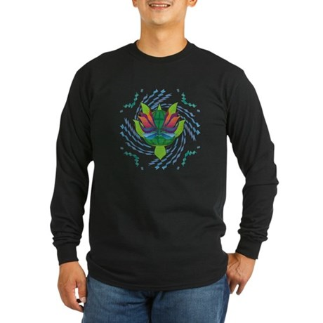 Flying Turtle Long Sleeve Dark T-Shirt