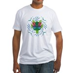 Flying Turtle Fitted T-Shirt