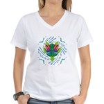 Flying Turtle Women's V-Neck T-Shirt