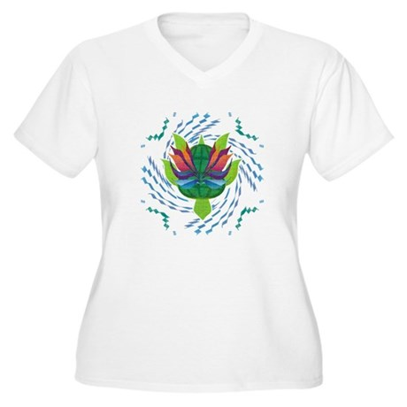Flying Turtle Women's Plus Size V-Neck T-Shirt