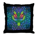 Flying Turtle Throw Pillow