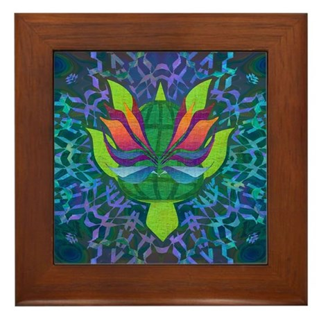 Flying Turtle Framed Tile