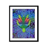 Flying Turtle Framed Panel Print