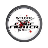 Welder Cage Fighter by Night Wall Clock