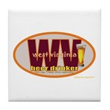 Funny West virginia is for lovers Tile Coaster