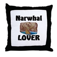 Narwhal Lover Throw Pillow
