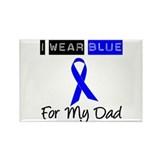 I Wear Blue For My Dad Rectangle Magnet (10 pack)