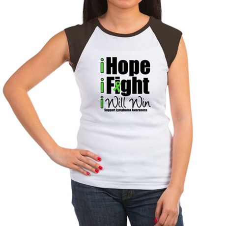 Hope, Fight Win (Lymphoma) Women's Cap Sleeve T-Sh