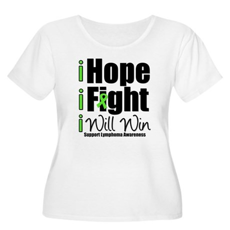 Hope, Fight Win (Lymphoma) Women's Plus Size Scoop