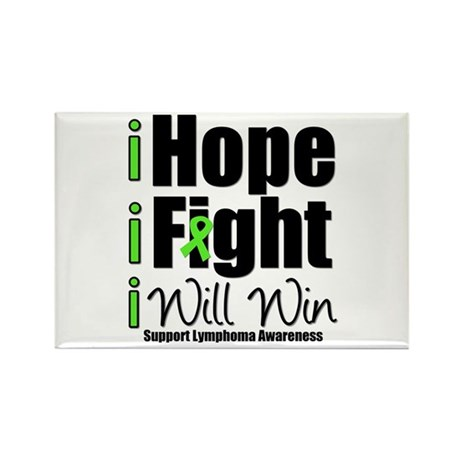 Hope, Fight Win (Lymphoma) Rectangle Magnet (10 pa