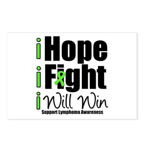 Hope, Fight Win (Lymphoma) Postcards (Package of 8