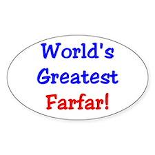 World's Greatest Farfar Oval Decal