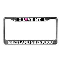 Shetland Sheepdog License Plate Frames
