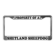 Property Of Shetland Sheepdog License Plate Frame