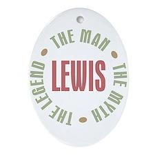 Lewis Man Myth Legend Oval Ornament