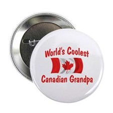 "Coolest Canadian Grandpa 2.25"" Button"