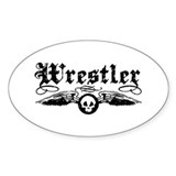 Wrestler Oval  Aufkleber