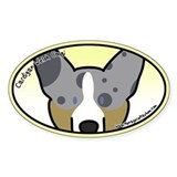 Anime Merle Cardigan Welsh Corgi Oval Decal