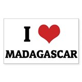 I Love Madagascar Rectangle Decal