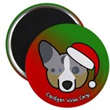 Cartoon Merle Cardigan Corgi Christmas Magnet
