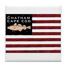 """Chatham Cape Cod"" Tile Coaster"