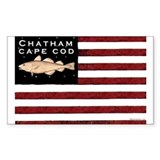 """Chatham Cape Cod"" Flag Rectangle Decal"