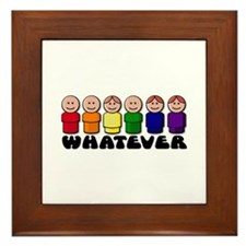 Gay Pride Whatever Framed Tile