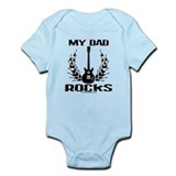 Dad Rocks  Baby Onesie