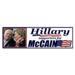 Hillary4McCain Bumper Sticker (50 pk)