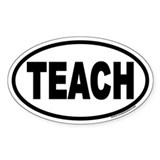 TEACH Euro Oval Sticker for Teachers