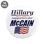 "Hillary4McCain 3.5"" Button (10 pack)"