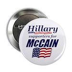 """Hillary4McCain 2.25"""" Button"""