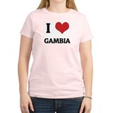 I Love Gambia Women's Pink T-Shirt