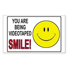 Security Camera Warning Rectangle Sticker 50 pk)
