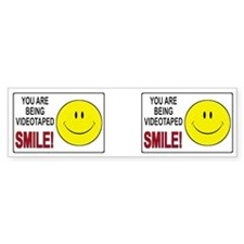 Security Camera Warning Bumper Sticker (10 pk)