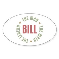 Bill Man Myth Legend Oval Decal