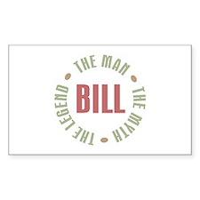 Bill Man Myth Legend Rectangle Decal