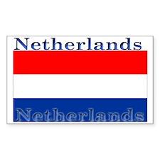 Netherlands Dutch Flag Rectangle Stickers