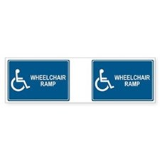 Wheelchair Ramp Notice Bumper Bumper Sticker