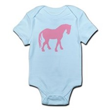 Pink Tang Horse #4 Infant Bodysuit