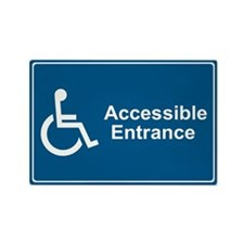 Accessible Entrance Rectangle Magnet (100 pack)