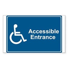 Accessible Entrance Rectangle Decal
