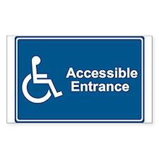 Accessible Entrance Rectangle Sticker 10 pk)