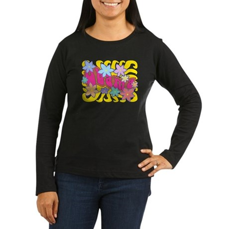 Groovy Obama Women's Long Sleeve Dark T-Shirt