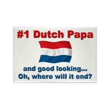 Good Looking Dutch Papa Rectangle Magnet