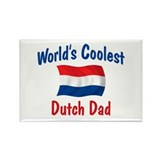 Coolest Dutch Dad Rectangle Magnet